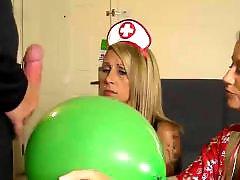 Lick cum, Balloons, Balloon, Cum licking