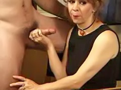 Table masturbation, Table mature, Mature redhead masturbation, Sperm licking