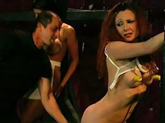 X-mastere, Tit spank, Threesome bondage, Master slaves, Lingerie spank, Lingerie slave