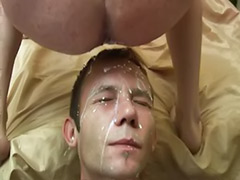Swallows cock, Gay swallows cum, Gay swallow cum, Gay facial, Gay cum swallowing, Gay cum swallow