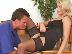 Table masturbation, Table, Wild fuck, Women black, Women cum, Sex blond on black