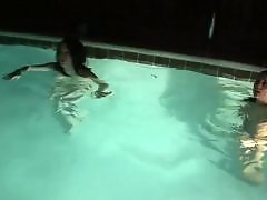 Two teens, Pool, Naughty teen