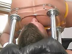 Wank with cum, Chair sex