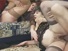 Two matures, Three mature, Mature stockings oral cum, Mature stockings anal, Mature group anal, Mature german masturbating