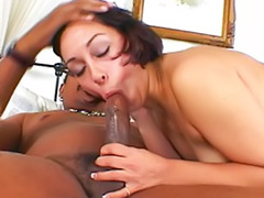 Passionate sex, Passionate couple, Passionate blowjob, Horny black, Cum in hair