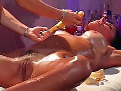 Tit spank, Big tits lesbians massage, Spank tits, Lesbian massage