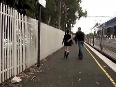 Train fuck,, Train fuck, The train, Teen public, Teen couple, Public train,