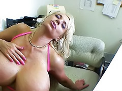 Sexe in office, Office threesome, Bikini threesome, Big tits in office, Cock sucker, Cum suckers