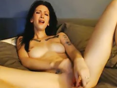 Tattooed babe, Webcam tattoo, Web, Solo fingering, Solo finger, Finger girls