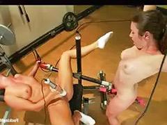 Machine lesbians, Machine fucking, Machine fuck, Lesbian machines, Lesbian in gym, Lesbian gym
