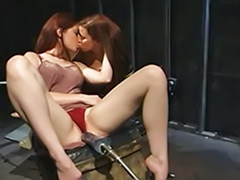 Redhead riding, Pussy kiss, Machines, Machine lesbians, Lesbian machines, Kissing pussy