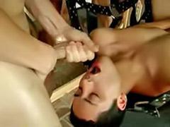 Brunettes in bondage, Gay cum in ass
