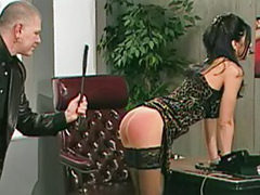 Submission, Submissive couple, Submissive, Spanking stockings, Spanked slut, Spank office