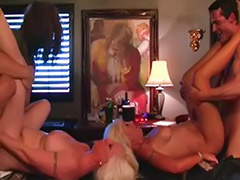 Mature group sex, Mature group