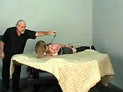 Tits bondage, Tit bondage, Teen bondage, Teen bdsm, Table, Short haired