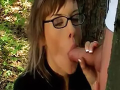 Forest sex, Glasses facial, Forest