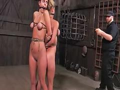 Threesome bondage, Deville, Devil, Bondage, Bondag