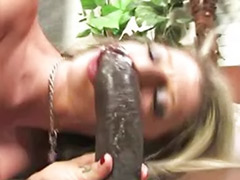 White milf, Huge white cock, Huge black cock