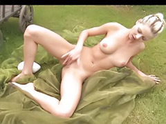 Teen innocent, Pinky june, Pinky, Innocents, Blonde shaved pussy solo