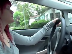 Redhead amateur, Public tits, Public show, Public in car, Show, Showe