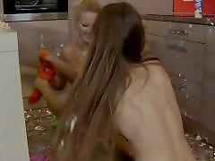 Punishments, Punishment spanking, Spanking lesbians, Spanking lesbian, Messy lesbians, Lesbians punishment