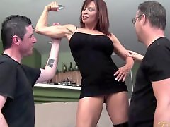 Pornstar threesome, Muscled, Muscle, Michaels, Devon michaels, Devon