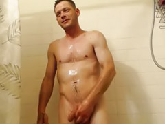 Voyuer, Webcam brunette, Wank solo, Shower wank, Shower gay, Solo shower