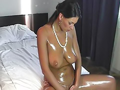 Queen, Oiled up, Oiled tits, Oiled solo, Oil solo, G queen solo