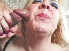 Sweet blonde, Granny stockings, Granny cums, Granny cum shot, Granny cum, Granny blonde