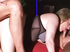 Threesome cum swallowing, Milfs german, Milf swallows, Milf swallow, Heels chubby, German swallow