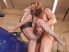 Roxy, Roxie, Roxi, Car stockings, Car bang, Horny bitch
