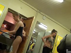 Pool, Locker voyeur, In room, In a room, Dressing room, Dressing b