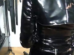 Vinyl, Whipping, Whip, German domina, Slave, German slave