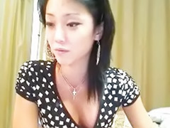 Shaved asian webcam, Asian striptease