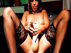 Solo slut, Mature fetish, Amateur mature solo, Giant dildo, Giant girl
