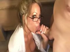 Pov blonde milf, Glasses milf, Glass cute, Cum cleaning, Cum clean, Cleaning milf