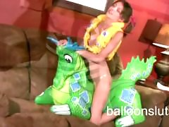 Teen humping, Teen tease, Inflating, Inflatable dildo, Humps, Humping