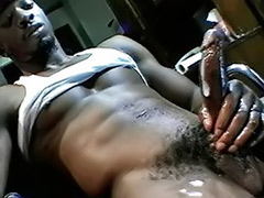 Submission, Submissive, Into cum, Black male masturbation, Cum into