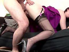 Stocking and fucking, Doggystyle, Stockings fuck, Stocking fuck, Mature hardcore, Hardcore mature