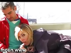 Blonde swallow, Blowjob swallow
