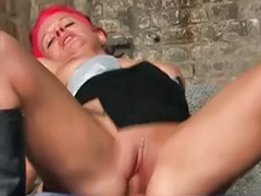 Redhead slut, Slut outdoor