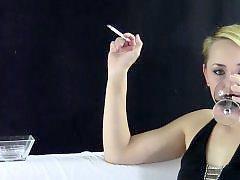 Gown, Black blonde, Cigarettes, Cigarette, Blonde black