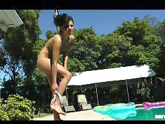 Pool bikini, Pool, Oiling, Oiled up, Oiled, Oil pool