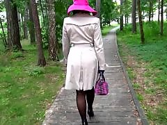 Walking heels, Walking, Stockings heels, Stockings mature, Mature stockings, Mature stocking