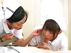 The days, The day, Nurse threesome, Nurse handjob japanese, Nurse handjob, Japanese nurse handjob
