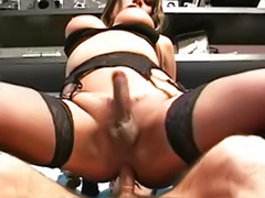 Shemale lingerie, Shemale cum sucking, Deepthroating shemale
