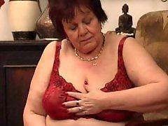 Granny, Mature, Big tits