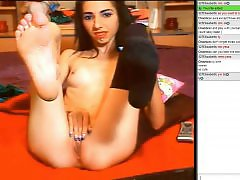 Teasing, Tease, Webcam stockings, Romanian webcam, Romanian amateur, Romanian
