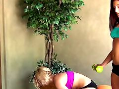 Workout, Lesbian blondes, Lesbian blonde, Lesbian blond, Lesbian workout, Brunette lesbians