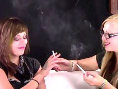 Roxy, Roxie, Roxi, Smoking, Kyle, Brunette and blonde